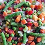 замораживание овощей и плодов